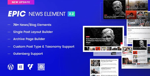Download Epic News Elements v2.2.9 Free / Nulled