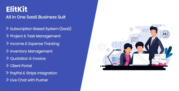 Download ElitKit v1.6.1 - All In One SaaS Business Suit Free / Nulled