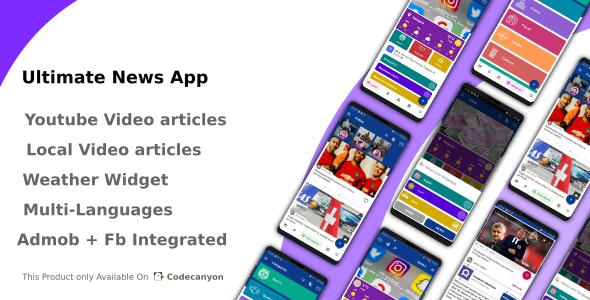 Download Ultimate News App (Video,Youtube,Weather,Survey) v2.2 - Free / Nulled