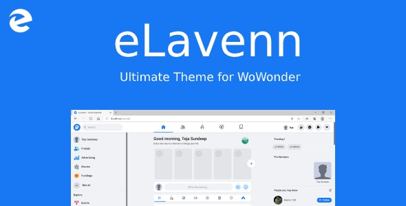 Download eLavenn v1.0 - The Ultimate WoWonder Theme Free / Nulled