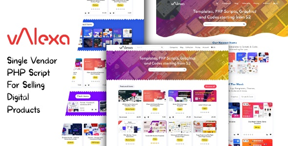 Download Valexa v2.0.0 - PHP Script For Selling Digital Products And Digital Downloads Free / Nulled