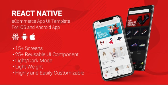Download React Native Store UI Template v1.0 - Free / Nulled