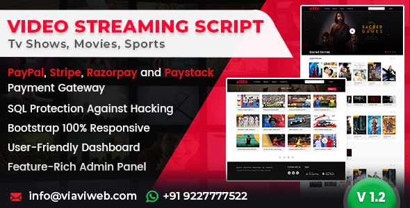 Download Video Streaming Portal v1.3 - (TV Shows, Movies, Sports, Videos Streaming, Live TV) Free / Nulled