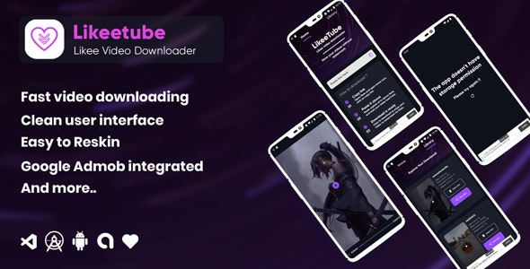 Download Likeetube v1.0.0 - Likee video downloader no watermark (android) Free / Nulled