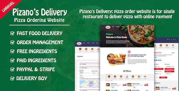 Download Pizano's Delivery v1.0 - Unlimited pizza order website Free / Nulled