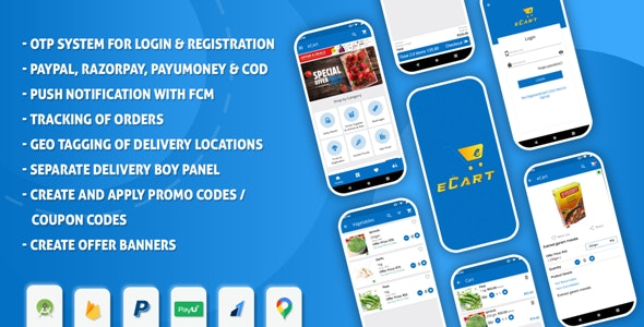 Download eCart v2.0.5 - Android ecommerce app Free / Nulled