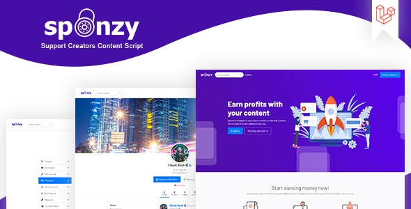 Download Sponzy v1.1 - Support Creators Content Script Free / Nulled