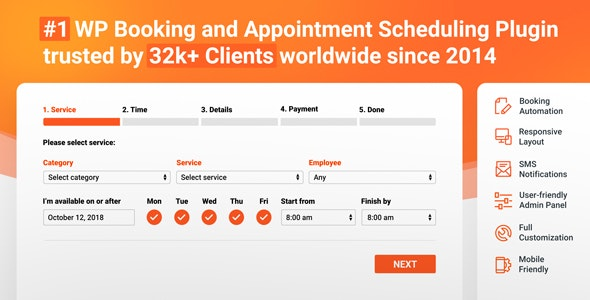 Download Bookly Booking Plugin v18.7 - + Addons Free / Nulled