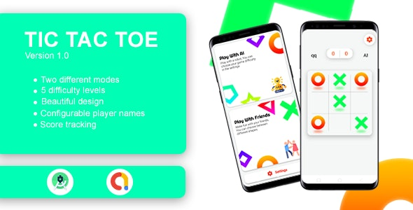 Download Tic Tac Toe Game with AdMob v1.0 Free / Nulled