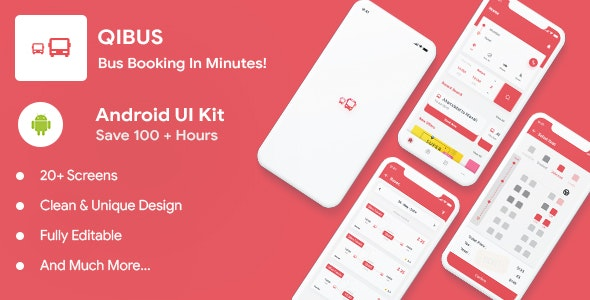 Download QIBus v2.0 - Bus booking android app ui template - Kotlin Free / Nulled