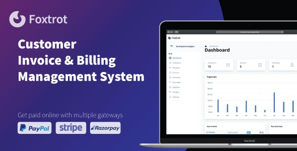 Download Foxtrot v1.0.1 - Customer, Invoice and Expense Management System Free / Nulled