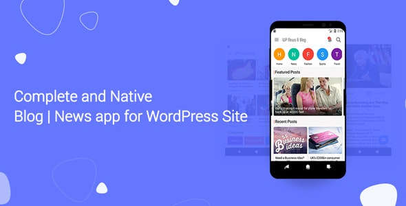 Download Blog and News app for WordPress Site with AdMob and Firebase Push Notification v1.4 Free / Nulled
