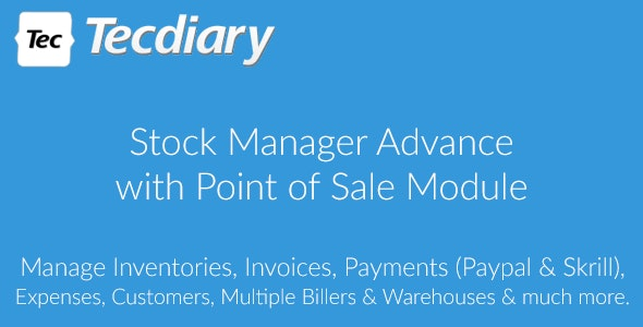 Download Stock Manager Advance with Point of Sale Module v3.4.40 Free / Nulled