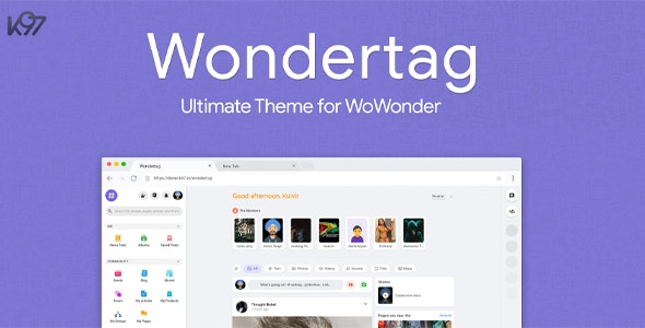 Download Wondertag v1.4.1 - The Ultimate WoWonder Theme Free / Nulled