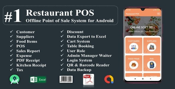 Download Restaurant POS-Offline Point of Sale System for Android v1.0 Free / Nulled