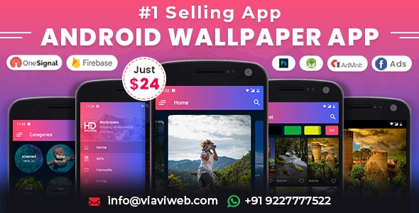 Download Android Wallpapers App v1.0 - (HD, Full HD, 4K, Ultra HD Wallpapers) Free / Nulled
