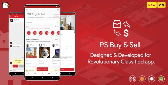 Download PS BuySell  v2.9 - ( Olx, Mercari, Offerup, Carousell, Buy Sell ) Clone Classified App Free / Nulled