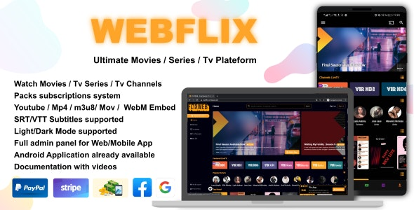 Download WebFlix v1.0 - Movies - TV Series - Live TV Channels - Subscription Free / Nulled