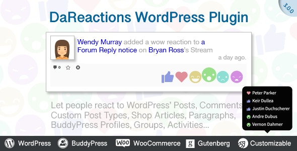 Download Reactions WordPress Plugin v3.11.0 Free / Nulled