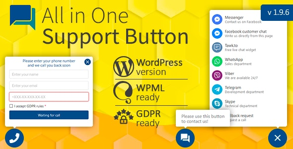 Download Contact us all-in-one button with callback v1.9.7 - Wordpress Plugin Free / Nulled