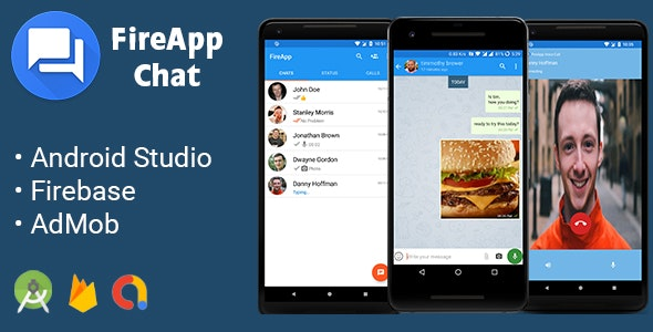 Download FireApp Chat v1.3.2 - Android Chatting App with Groups Inspired by WhatsApp Free / Nulled