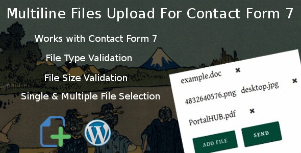 Download Multiline files upload for contact form 7 Pro v1.8 Free / Nulled