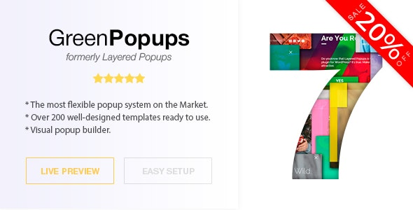 Download Green Popups (formerly Layered Popups) v7.1.0 - Popup Plugin for WordPress Free / Nulled