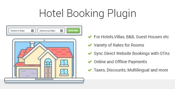 Download Hotel Booking v3.8.5 - Property Rental WordPress Plugin Free / Nulled