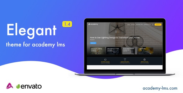 Download Elegant v1.4 - Academy LMS Theme Free / Nulled