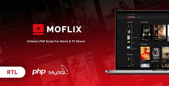Download MoFlix v1.0.5 - Ultimate PHP Script For Movie & TV Shows Free / Nulled
