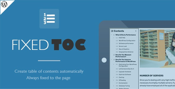 Download Fixed TOC v3.1.20 - table of contents for WordPress plugin Free / Nulled