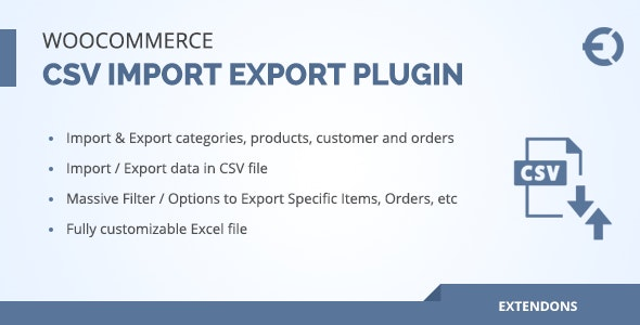 Download Woocommerce csv import export plugin v2.0.0 - orders, customers, products Free / Nulled