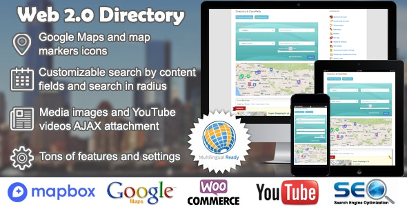 Download Web 2.0 Directory plugin for WordPress v2.6.8 Free / Nulled