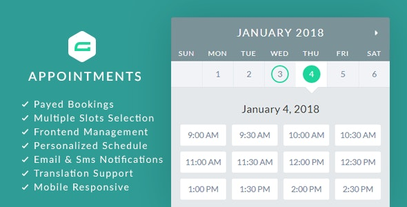 Download gAppointments v1.9.5 - Appointment booking addon for Gravity Forms Free / Nulled