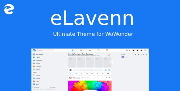Download eLavenn v1.2 - The Ultimate WoWonder Theme Free / Nulled