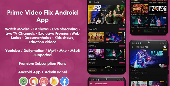 Download Prime Video Flix App v8.1 - Movies - Shows - Live Streaming - TV - Web Series - Premium Subscription Plan Free / Nulled