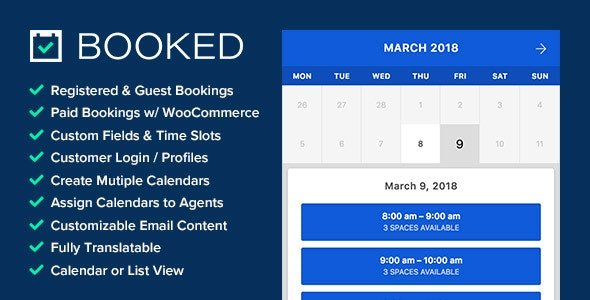 Download Booked v2.3 - Appointment Booking for WordPress Free / Nulled