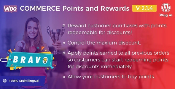 Download Bravo v2.1.4 - WooCommerce Points and Rewards - WordPress Plugin Free / Nulled