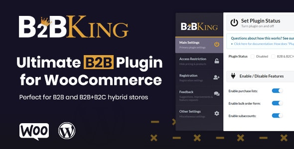 Download B2BKing v2.5.0 - The Ultimate WooCommerce B2B & Wholesale Plugin Free / Nulled