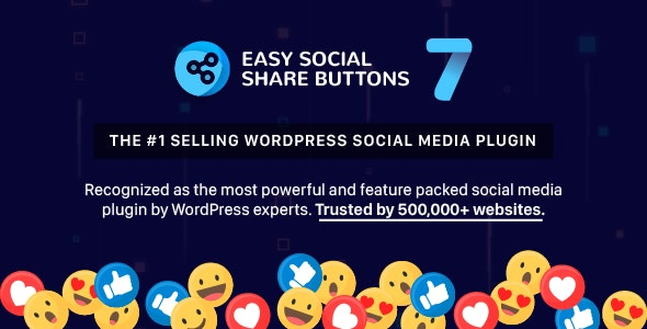 Download Easy Social Share Buttons for WordPress v7.5 Free / Nulled
