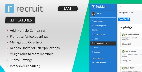 Download Recruit SAAS v3.3.4 - Recruitment Manager Free / Nulled