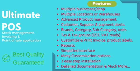 Download Ultimate POS v3.6 - Best Advanced Stock Management, Point of Sale & Invoicing application Free / Nulled