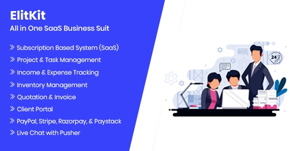Download ElitKit v1.7 - All In One SaaS Business Suit Free / Nulled