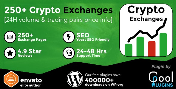 Download Cryptocurrency Exchanges List Pro v2.1.2 - WordPress Plugin Free / Nulled