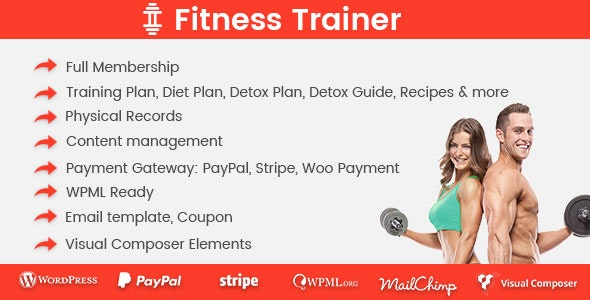 Download Fitness Trainer v1.5.1 - Training Membership Plugin Free / Nulled