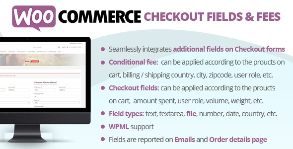 Download WooCommerce Checkout Fields & Fees v7.8 Free / Nulled