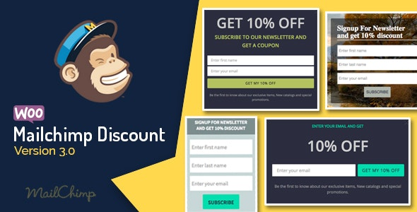 Download Woocommerce Mailchimp Discount v3.8 Free / Nulled