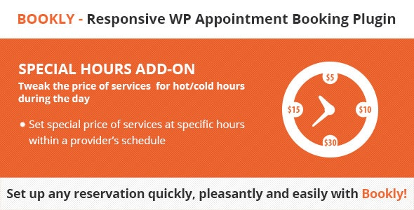 Download Bookly Special Hours (Add-on) v2.5 Free / Nulled
