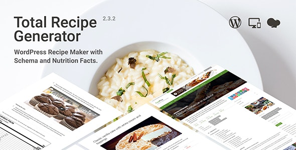 Download Total Recipe Generator v2.2.0 - WordPress Recipe Maker with Schema and Nutrition Facts Free / Nulled