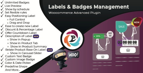 Download WooCommerce Advance Product Label and Badge Pro v1.6.0 Free / Nulled